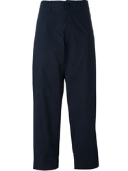 Y's Dyed Tapered Trousers Blue