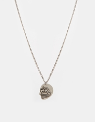 Cheap Monday Skull Necklace Silver