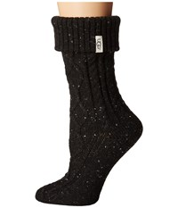 Ugg Sienna Short Rainboot Socks Black Women's Knee High Socks Shoes