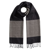 East Border Stripe Scarf Black