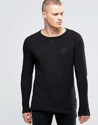 Sik Silk Siksilk Lightweight Jumper With Wide Collar Black