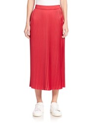 Elizabeth And James Lucy Pleated Midi Skirt Cardinal Royal