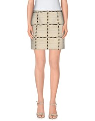 Douuod Skirts Mini Skirts Women Beige