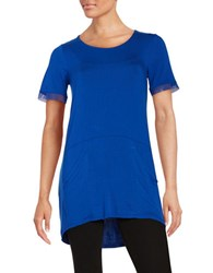 Context Mesh Trimmed Tee Angel Fish Blue