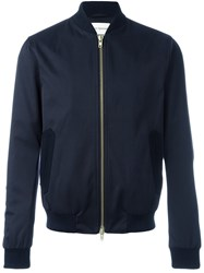 Oliver Spencer 'Bermondsy' Bomber Jacket Blue
