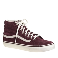 Unisex Vans For J.Crew Sk8 Hi Sneakers Winetasting