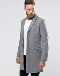 Only And Sons Overcoat Light Grey Marl