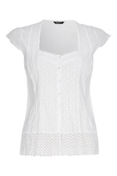 Roman Originals Casual Crinkle Detail Blouse White