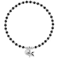 Joma Crystal And Bead Star Bracelet Black Silver