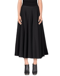 Minimal 3 4 Length Skirts Black