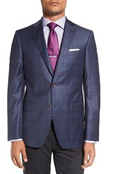 David Donahue Men's 'Connor' Classic Fit Plaid Wool Sport Coat
