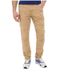 Publish Ogden Classic Fit Brushed Stretch Twill Pants With Ripped And Repaired Details Khaki Men's Casual Pants
