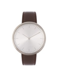 Mmt C 16 Stainless Steel And Leather Watch