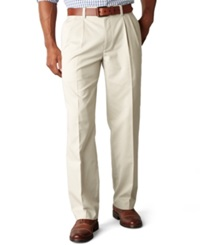 Dockers D3 Classic Fit Easy Refined Khaki Pleated Pants Marble