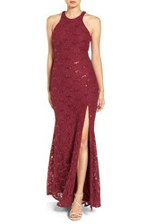 Jump Apparel Women's Open Back Sequin Lace Gown