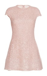 Sandra Mansour Eclat Beaded Mini Dress Pink