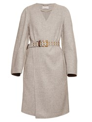 Chloe Double Faced Wool And Cashmere Blend Coat