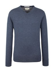 Racing Green Fletcher V Neck Knit Blue