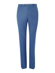 Corsivo Abaco Sharkskin Flat Front Trousers Light Blue