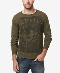 Buffalo David Bitton Men's Wicrane Graphic Print Sweater Aspen
