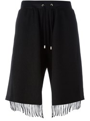 Andrea Crews Fringed Shorts Black