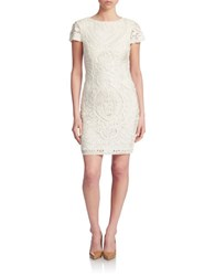Js Collections Lace Sheath Dress Ivory