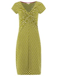 White Stuff Stripe Go Crazy Jersey Dress Pickle Green