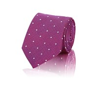 Barneys New York Dot Embroidered Necktie Md. Pink