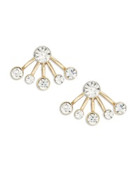 Catherine Stein Rhinestone Spray Stud Earrings Gold