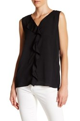 Joe Fresh Ruffle Tank Black