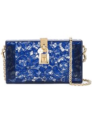 Dolce And Gabbana 'Dolce' Box Clutch Blue