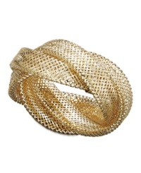 Macy's 14K Gold Ring Woven Braid Ring