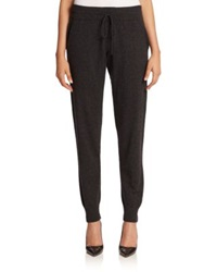 Lafayette 148 New York Cashmere Drawstring Track Pants Steel