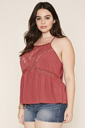 Forever 21 Plus Size Lace Paneled Cami