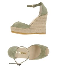 Espadrilles Footwear Sandals Women Military Green