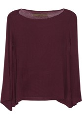Enza Costa Stretch Jersey Top Burgundy