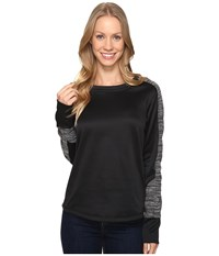 Mountain Hardwear Snowchill Fleece Long Sleeve Shirt Heather Black Women's Clothing