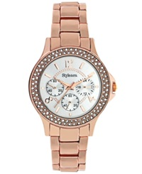 Style And Co. Watch Women's Rose Gold Tone Bracelet Sc1273