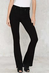Nasty Gal Citizens Of Humanity Fleetwood High Waisted Flare Jeans Black