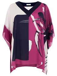 Windsmoor Placement Floral Tunic Top Multi Pink