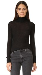 Alexander Wang Wooly Ribbed Fitted Turtleneck Black