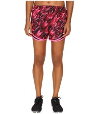 Nike Dry Tempo Print 2 Running Short Hyper Pink Black Reflective Silver Women's Shorts Purple
