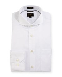 Neiman Marcus Luxury Tech Trim Fit Solid Dress Shirt White