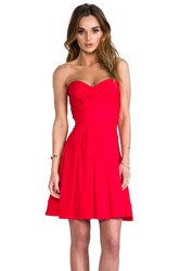 Catherine Malandrino Benita Bustier Dress Red