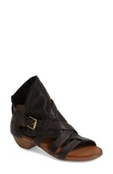 Women's Miz Mooz 'Cassidy' Leather Sandal Black Leather