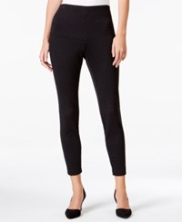 Maison Jules Textured Pull On Ponte Pants Only At Macy's Black Combo
