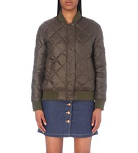 Closed Shire Reversible Shell Bomber Jacket Shadow Green