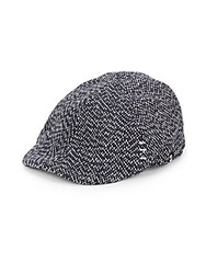Block Headwear Tweed Driving Cap Navy