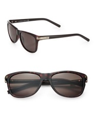 Montblanc 56Mm Injected Square Shaped Sunglasses Dark Havana