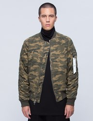 Stampd Camo Washed Bomber